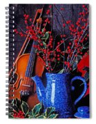 Violin With Blue Pot Spiral Notebook