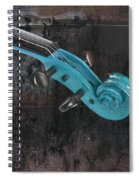 Violinelle - Turquoise 05a2 Spiral Notebook