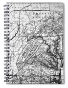 Virginia: Map, C1784 Spiral Notebook