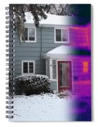 Visible And Infrared Image Of A House Spiral Notebook