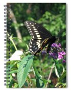 Visit From A Black Swallowtail Spiral Notebook