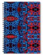 Vital Network II Design Large Spiral Notebook
