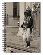 Voodoo Man In Jackson Square New Orleans- Sepia Spiral Notebook
