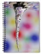 Vortex In Water Spiral Notebook