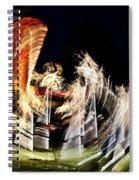Vortex Of Light Spiral Notebook