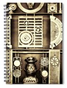 Vulcan Steel  Steampunk Metalworks Spiral Notebook