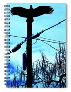 Vulture On Phone Pole Spiral Notebook