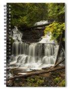 Wagner Falls 3 Spiral Notebook