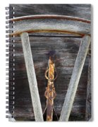 Wagon Wheel Detail Spiral Notebook