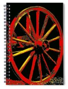 Wagon Wheel In Red Spiral Notebook