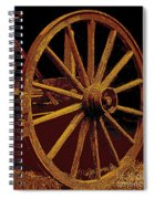 Wagon Wheel In Sepia Spiral Notebook