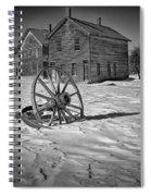 Wagon Wheel In Winter Spiral Notebook