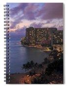 Waikiki At Night Spiral Notebook