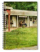 Waiting By The General Store Spiral Notebook