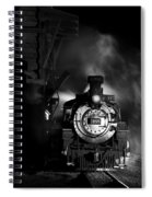 Waiting For More Coal Black And White Spiral Notebook