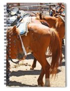 Waiting For The Next Rider Spiral Notebook