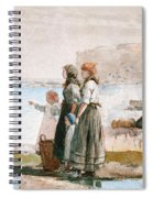 Waiting For The Return Of The Fishing Fleets Spiral Notebook