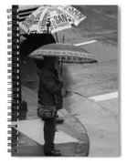 Waiting In The Rain Spiral Notebook