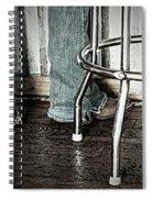 Waitress In Boots Spiral Notebook