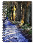 Walk On A Cold Autumn Day Spiral Notebook