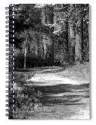 Walking In The Springtime Woods In Black And White Spiral Notebook