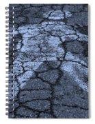 Walking Man In Cyan Spiral Notebook