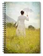 Walking On The Meadow Spiral Notebook