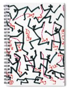 Walking The Dogs - Dec Two K Eleven Spiral Notebook