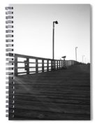 Walking The Planks Sunrise Spiral Notebook