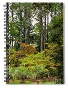 Walking Through An Autumn Garden Spiral Notebook
