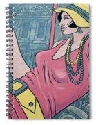 Wall Art Flapper Spiral Notebook
