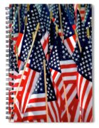 Wall Of Us Flags Spiral Notebook