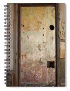 Walls With Graffiti In An Abandoned House. Spiral Notebook