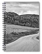 Wandering In West Virginia Monochrome Spiral Notebook