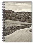 Wandering In West Virginia Sepia Spiral Notebook