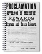 Wanted Poster, 1881 Spiral Notebook