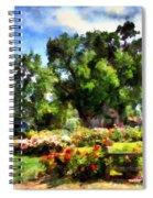 War Memorial Rose Garden  4 Spiral Notebook