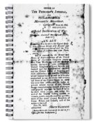 War Of 1812: Broadside Spiral Notebook