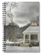 Warm Gazebo On A Cold Day Spiral Notebook