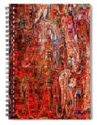 Warm Meets Cool - Abstract Art Spiral Notebook