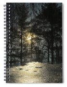 Warmth Above Icy Reflections Spiral Notebook