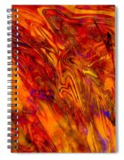 Warmth And Charm - Abstract Art Spiral Notebook