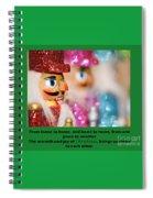 Warmth And Joy Spiral Notebook