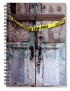 Warning Spiral Notebook
