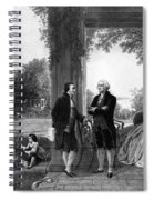 Washington And Lafayette, Mount Vernon Spiral Notebook