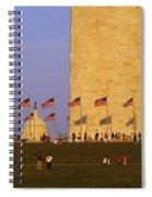 Washington Dc Sunset Spiral Notebook