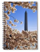 Washington Monument Cherry Trees Spiral Notebook