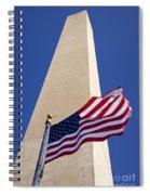Washington Monument Flag Spiral Notebook