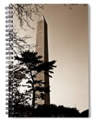 Washington Monument In Sepia Spiral Notebook