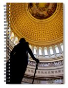 Washington Under Capitol Dome Spiral Notebook